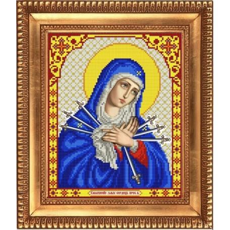 Рисунок на ткани бисером БЛАГОВЕСТ арт.И-4016 Богородица Умягчение злых сердец 20х25 см