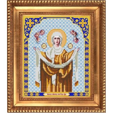 Рисунок на ткани бисером БЛАГОВЕСТ арт.И-4018 Богородица Покрова 20х25 см
