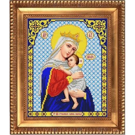 Рисунок на ткани бисером БЛАГОВЕСТ арт.И-4020 Пресвятая Богородица Отчаяных Единая Надежда 20х25 см