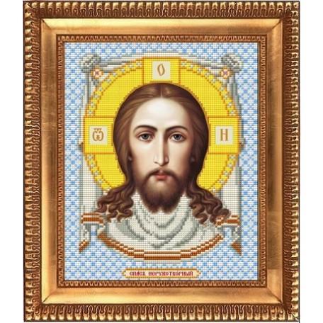Рисунок на ткани бисером БЛАГОВЕСТ арт.И-4023 Спас Нерукотворный 20х25 см