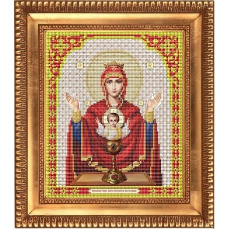 Рисунок на ткани бисером БЛАГОВЕСТ арт.И-4024 Пресвятая Богородица Неупиваемая Чаша 20х25 см