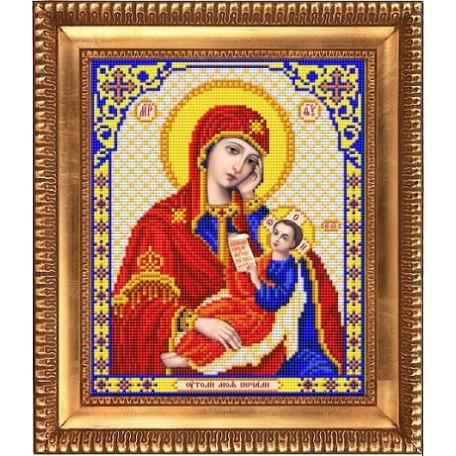Рисунок на ткани бисером БЛАГОВЕСТ арт.И-4029 Пресвятая Богородица Утоли Мои Печали 20х25 см