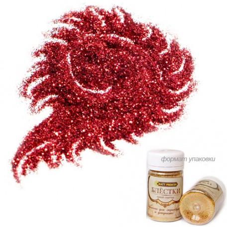 Блестки цветные 'Craft Premier' арт.2100-21 Красный 25мл