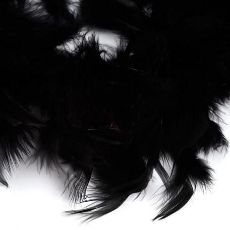 Боа - перо арт.FBY-50-100 цв.черный 50гр уп.2м