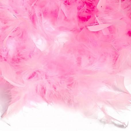 Боа - перо арт.FBY-50-13 уп.50+-3гр цв.розовый дл.2м