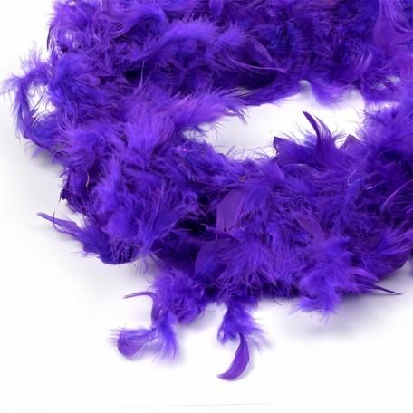 Боа - перо арт.FBY-50-17 цв.фиолетовый уп.2м