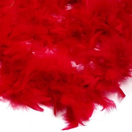 Боа - перо арт.FBY-50-32 уп.50+-3гр цв.красный дл.2м