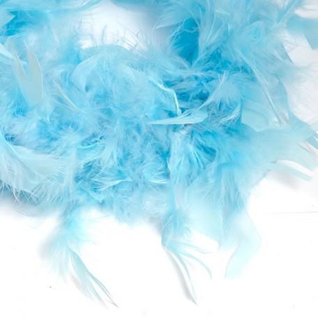 Боа - перо арт.FBY-50-41 цв.голубой 50гр уп.2м