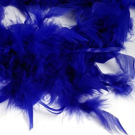 Боа - перо арт.FBY-50-46 цв.синий 50гр уп.2м