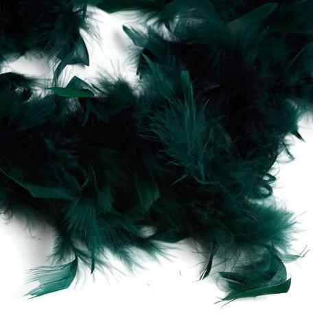 Боа - перо арт.FBY-50-52 цв.т.зеленый 50гр уп.2м