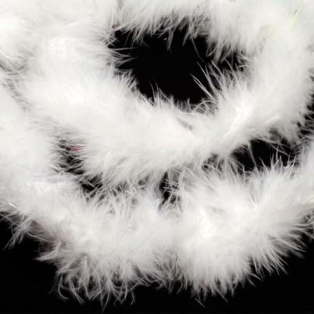 Боа - пух арт.FBY-18-1 уп.15+-3гр цв.белый уп.2м