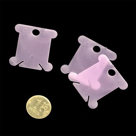 Бобина пластиковая для ниток арт. М008 Блистер цв.розовый упак.20шт