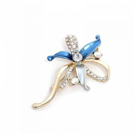 Брошь 'Tango' арт.S158047 цв.2 голубой
