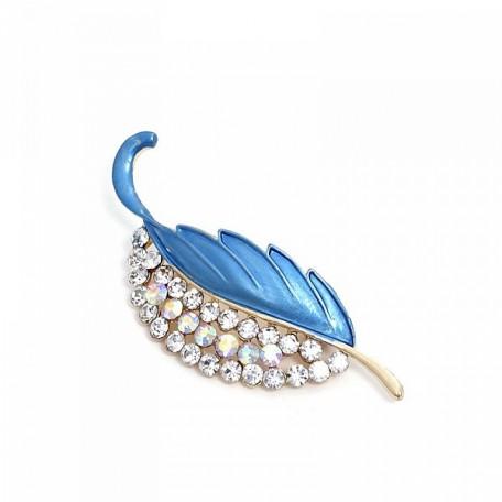 Брошь 'Tango' арт.S158051 цв.2 голубой