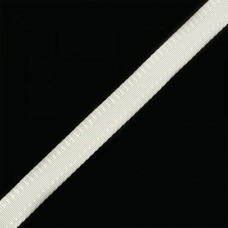 Тесьма брючная (полиэфирная) двухсторонняя арт.4316 шир.15мм цв.белый А