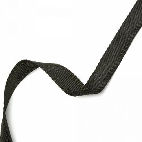 Тесьма брючная (полиэфирная) двухсторонняя арт.4316 шир.15мм цв.черный А