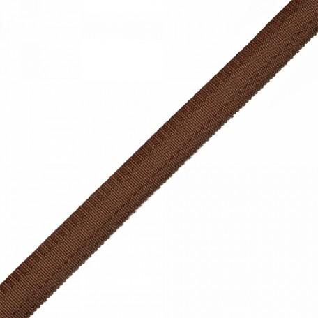 Тесьма брючная (полиэфирная) двухсторонняя арт.4316 шир.15мм цв.коричневый А