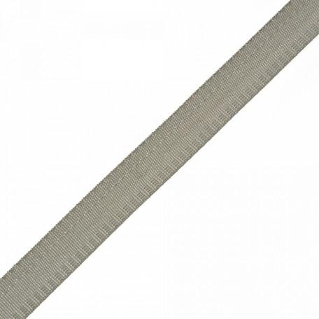 Тесьма брючная (полиэфирная) двухсторонняя арт.4316 шир.15мм цв.серый А