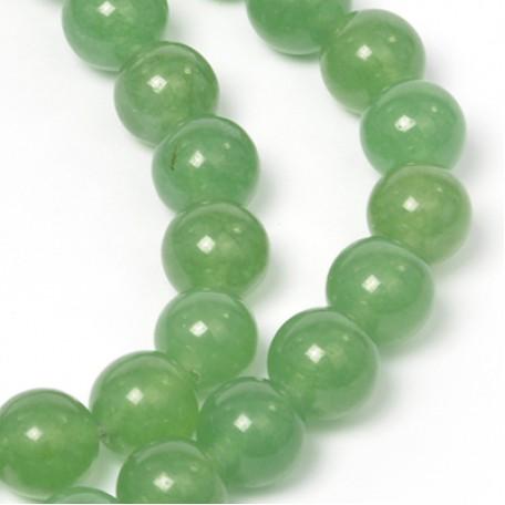 Бусины имитация натурального камня Агат арт.SV.АГЗ-10 10 мм., цв. зеленый (40 +/- 3 бусины)