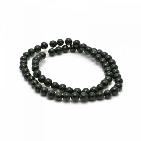 Бусины имитация натурального камня Авантюрин арт. SV.АВЗ-06 6 мм зеленый гладкий на нитях (65 +/-