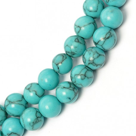 Бусины имитация натурального камня Бирюза арт. TBY.IB.08 08мм цв. зеленый