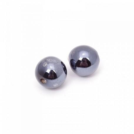 Бусины керамические TESОRO арт.TS-018 цв.черный 18 мм 11