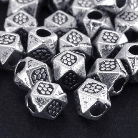 Бусины-разделители арт. МБ.БА1623 цв.ант.серебро 3,5х3 мм 200шт.