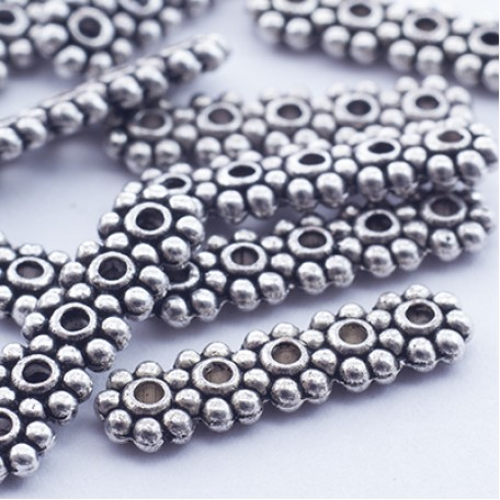 Бусины-разделители арт. МБ.УТ1073 цв.ант.серебро 17х4,5 мм 10шт.