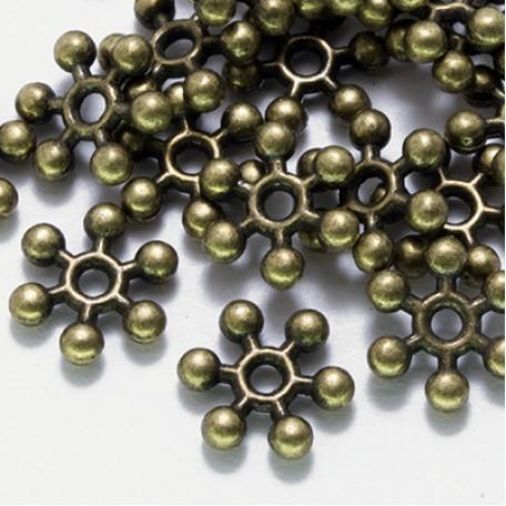 Бусины-разделители арт. МБ.УТ3010 цв.бронза 8,5х2,5 мм 50шт.