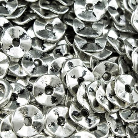 Бусины-разделители арт. МБ.УТ3272 цв.ант.серебро 7х1 мм 100шт.