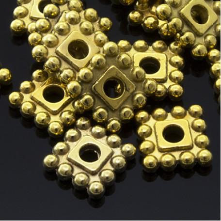 Бусины-разделители арт. МБ.УТ3441 цв.ант.золото 7х7 мм 50шт.