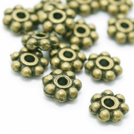 Бусины-разделители арт. МБ.УТ6088 цв.бронза 6х6 мм 100шт.