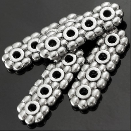 Бусины-разделители арт. МБ.УТ776 цв.ант.серебро 13,5х4,5 мм 10шт.