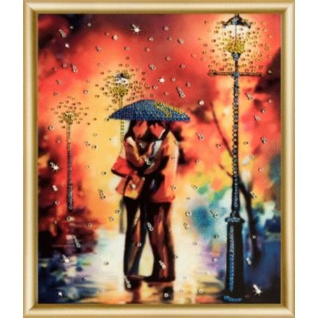 Набор 'ЧМ' арт. КС-001 для изготовления картины со стразами 'Дождь на двоих' 20,5х24 см