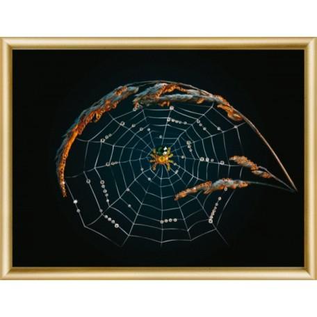 Набор 'ЧМ' арт. КС-002 для изготовления картины со стразами 'Паук' 22,9x16,9 см