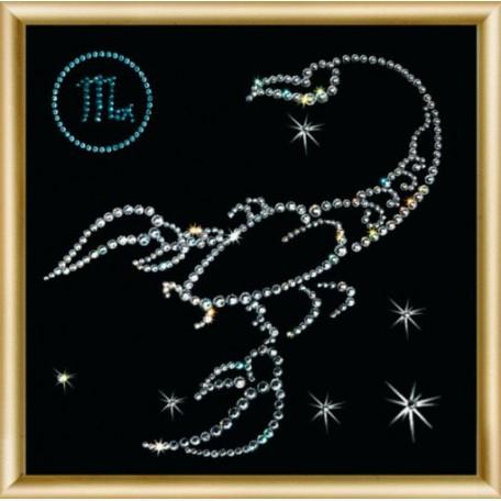 Набор 'ЧМ' арт. КС-005 для изготовления картины со стразами 'Скорпион' 14,6х14,6 см