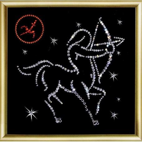 Набор 'ЧМ' арт. КС-014 для изготовления картины со стразами 'Стрелец' 14,6х14,6 см