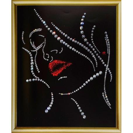 Набор 'ЧМ' арт. КС-019 для изготовления картины со стразами 'Соблазн' 20,5х24 см