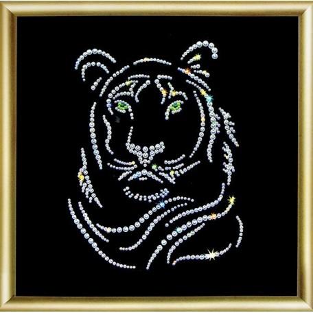 Набор 'ЧМ' арт. КС-020 для изготовления картины со стразами 'Тигр' 19,8х19,8 см