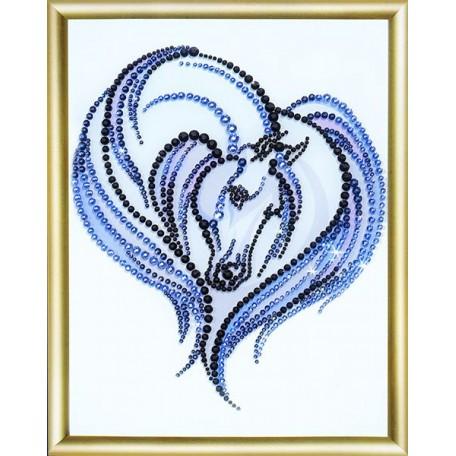Набор 'ЧМ' арт. КС-023 для изготовления картины со стразами 'Грация' 16,9х22,9 см