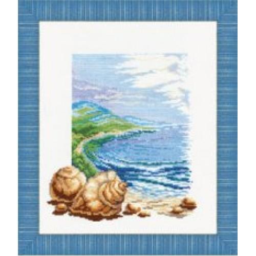 Вышивка море и ракушки 5