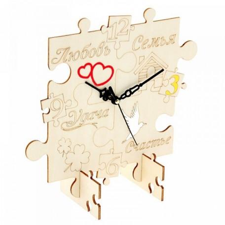 СЛ.799966 Часы настольные Хэнд-Мэйд 'Составные счастья' 12,8х13,5см