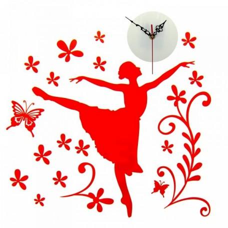 СЛ.805853 Часы-наклейка на стену 'Балерина' 42х59,4см
