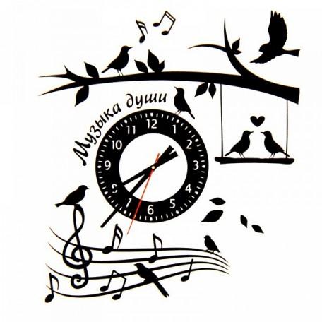 СЛ.805857 Часы-наклейка на стену 'Музыка души' 42х59,4см