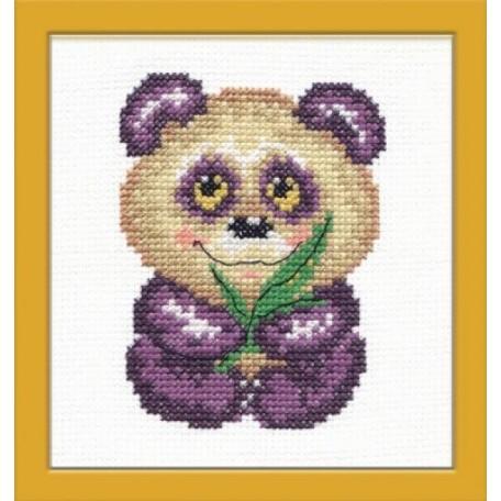 Набор для вышивания арт.ЧИ-17-04 (Д-072) М 'Панда' 8х10см