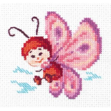 Набор для вышивания арт.ЧИ-10-27 'Бабочка' 8х8 см