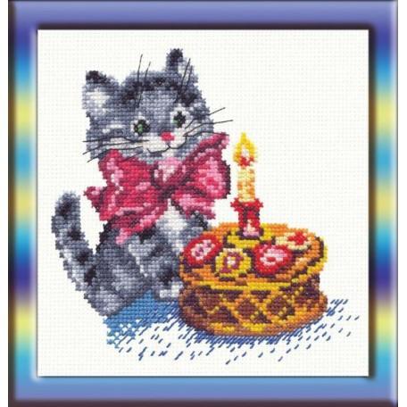 Набор для вышивания арт.ЧИ-13-08 (Д-038) СР 'День рождения' 14х14см