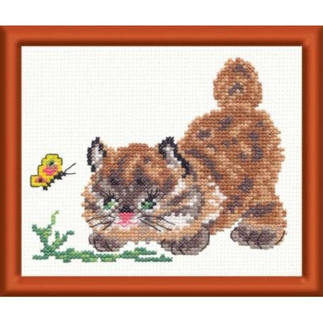 Набор для вышивания арт.ЧИ-15-04 (Д-026) СР 'Барсик' 12х11см