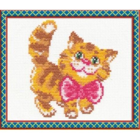 Набор для вышивания арт.ЧИ-15-07 (Д-078) СР 'Котик' 10х12см