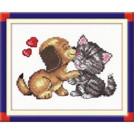 Набор для вышивания арт.ЧИ-16-08 (Д-100) СР 'Любовь' 14х12см